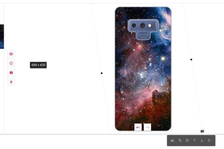 funda personalizada para Samsung - maquetador visual